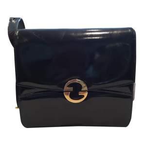 Vintage 1970s black patent leather Bag-0