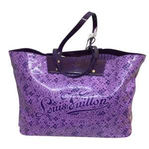 Large purple tote Bag-0