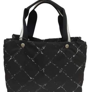 Black waterproof canvas tote Bag-0