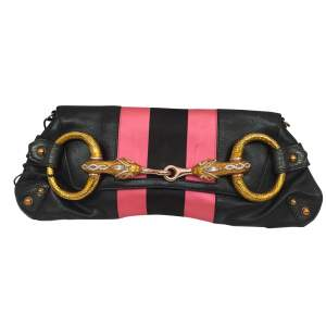 Black and  satin leather Bag-0