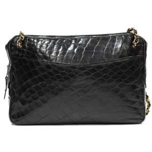 Vintage crocodile shoulder Bag-0
