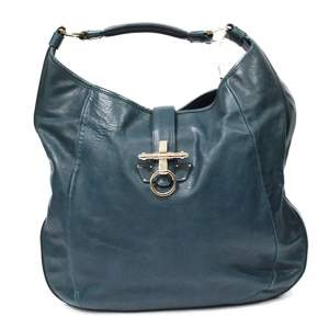 Blue leather Obsedia Bag-0