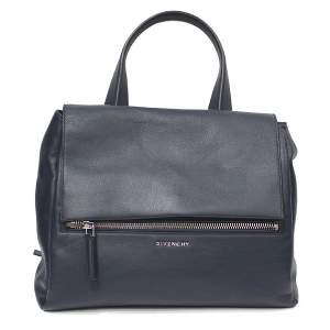 Blue leather Pandora Bag -0