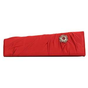 Satin red and crystal jewels Clutch-0