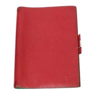 Red leather agenda Cover-0