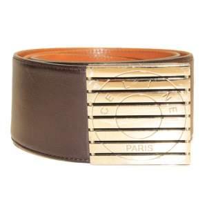 Large brown leather Belt-0