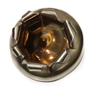 Brown glass Brooch-0