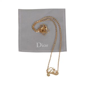 Short gold plated metal Necklace -0