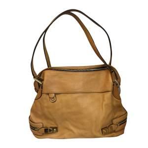 Mustard leather Handbag-0