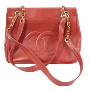 Vintage  leather  Shopper Bag-0