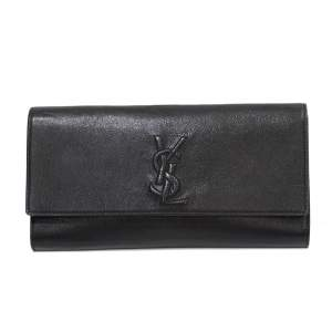 Black leather clutch Pouch-0