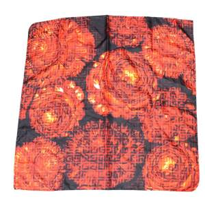 Floral silk Scarf-0