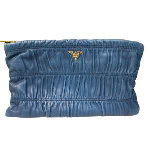 Blue leather Clutch-0
