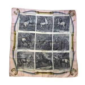 Horses silk Scarf-0