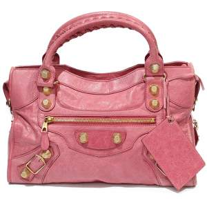Pink leather city Bag-0