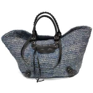 Osier blue leather Bag-0