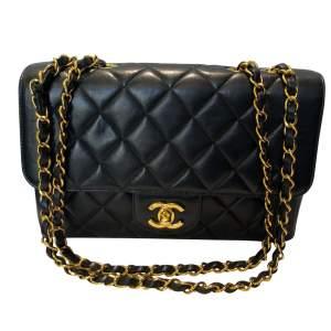 Vintage Black quilted leather Bag-0