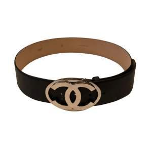 Black leather Belt -0