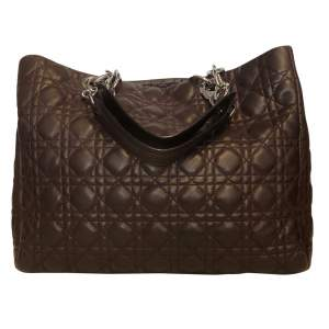Chocolate quilted leather Bag-0
