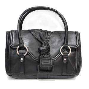 Black leather shoulder Bag-0