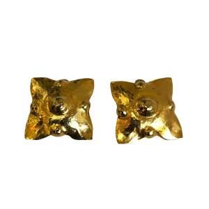 Vintage gold Earrings-0