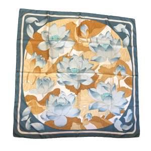 Flower silk Scarf-0