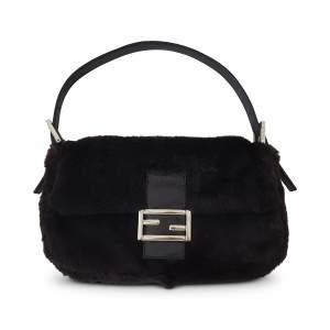 Baguette fur bag -0
