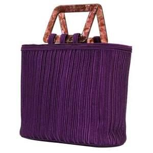 Vintage Purple Braided Tote Bag-0