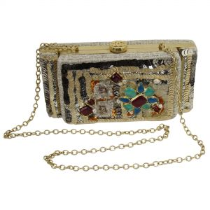 Unique Greek 2017 Cruise Collection Clutch with Gripoix Style Stones-0