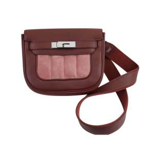 Berline Bag in burgundy swift Leather-0
