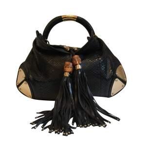 Black Python Handbag-0