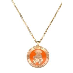 Vintage Teddy Bear Necklace-0