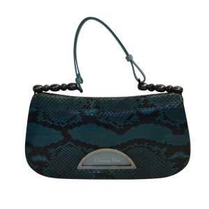 Rare Turquoise blue Python Bag-0