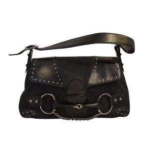 Canvas and studded leather Vintage Bag-0