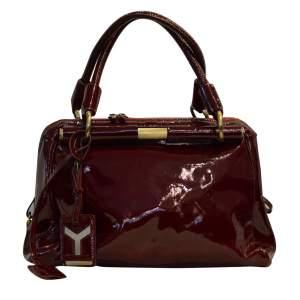 Patent leatherCherry Handbag-0