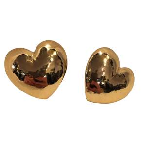 Beautiful heart shaped Clip-on earrings-0