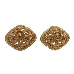 Vintage diamond shaped clip Earrings-0