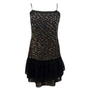 Beautiful tweed ruffle Dress-0
