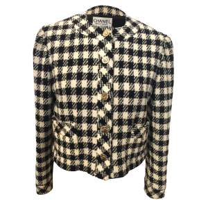 Vintage checkered wool Jacket-0