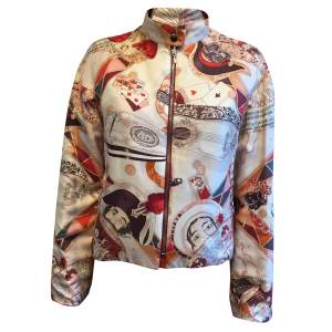 Reversible printed silk Jacket-0