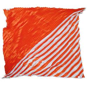 Silk orange Scarf-0