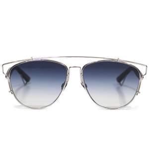 Silver and blue technologic Sunglasses -0