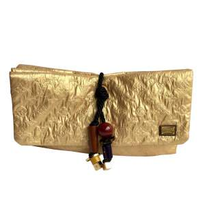 Collector parade 2009 gold flap clutch-0