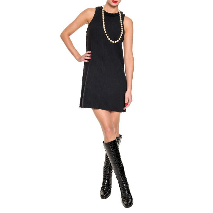 Black wool Dress-4