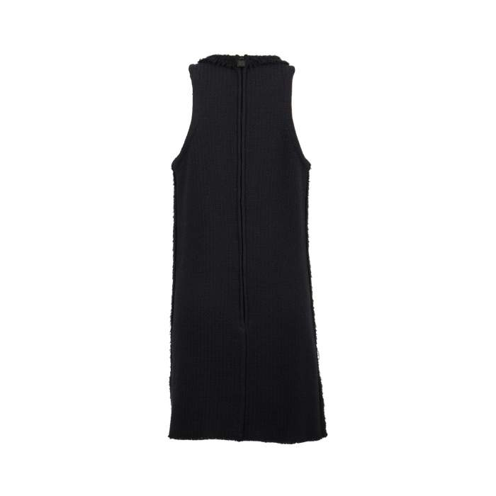 Black wool Dress-2