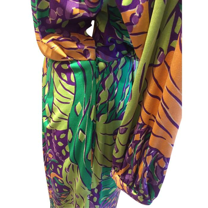 Vintage 100% silk summer 1991 Dress-6
