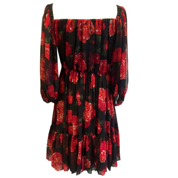 Vintage red and black floral 1994 Dress-2