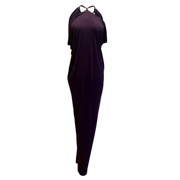 Vintage purple long  Dress-0