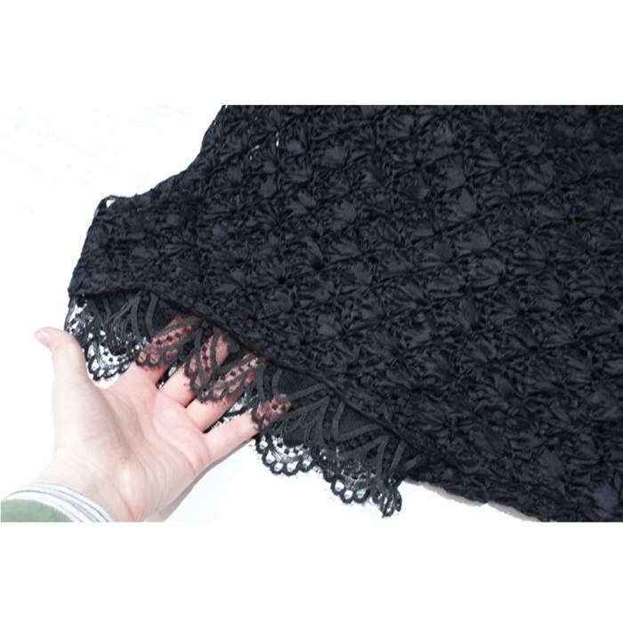 Black lace crochet Dress-6