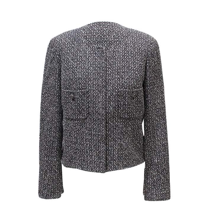 Black and white tweed Jacket-4